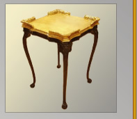 Gilded tray table with French polish